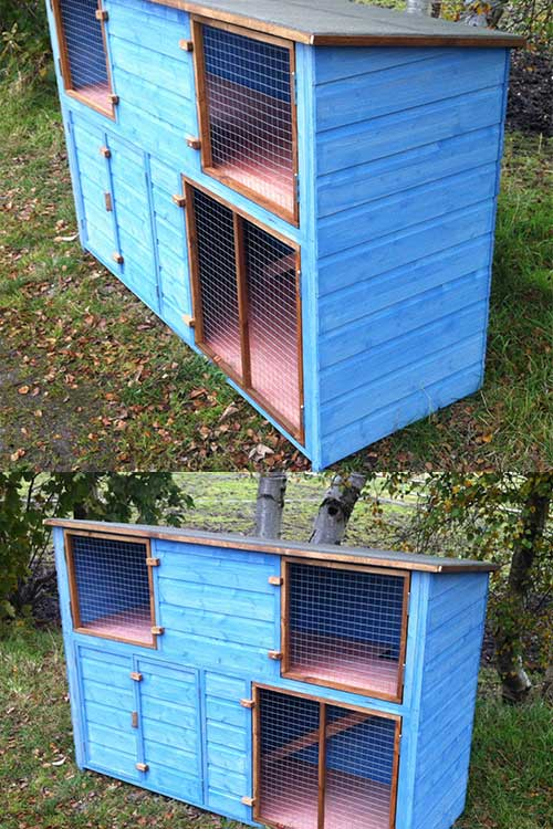6ft Double Height Rabbit Hutch - 6ft Double Height Rabbit Hutch – Chicubes